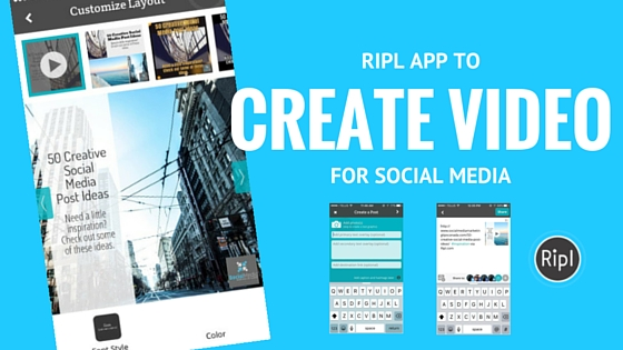 Using Ripl to create animated social media graphics