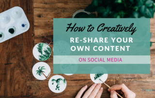 creatively re-share content on social media