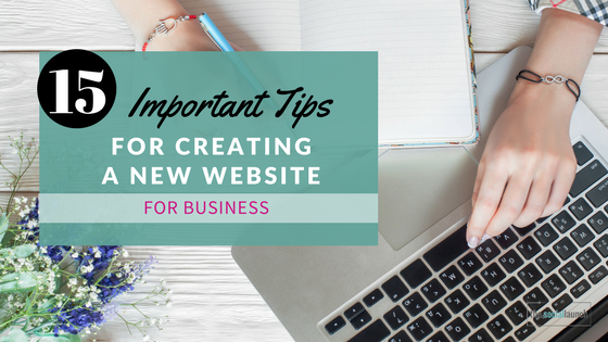 creating a new website for business
