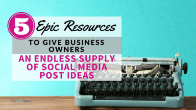 endless supply social media post ideas
