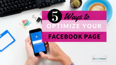 optimize your facebook page