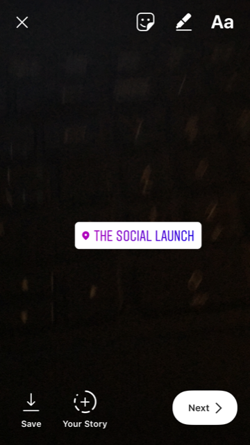 instagram stories adding location