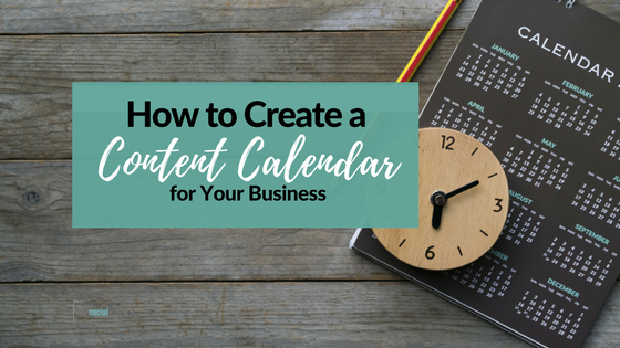 content calendar for your business