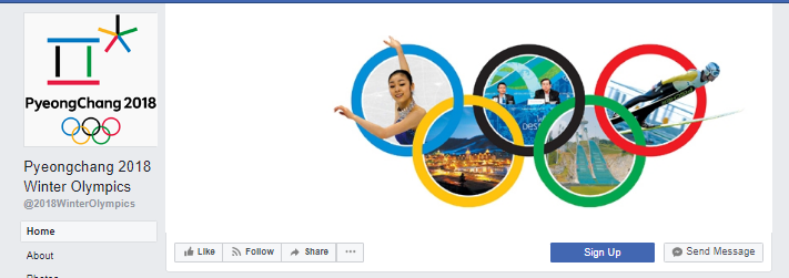 2018 olympics facebook cover image