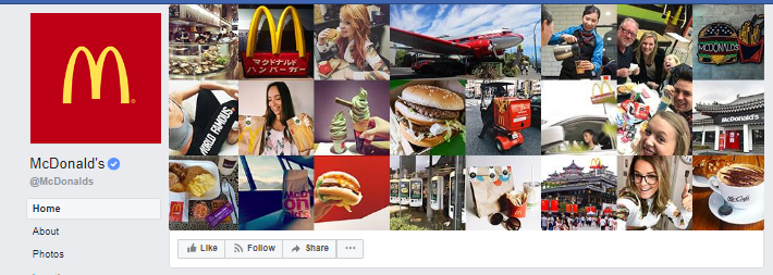 creative facebook cover images mcdonalds